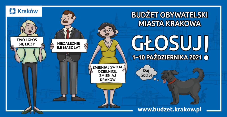 Głosowanie w ramach budżetu obywatelskiego miasta Krakowa edycja 2021